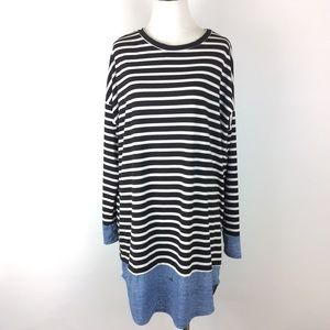 Eloges Striped Dress with Blue lining Size XL